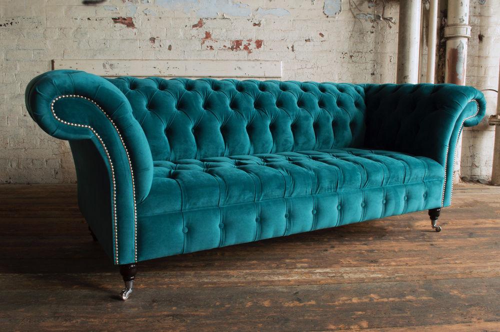 Sofa Pikowana Krysztalkami Glamour Chesterfield 7240700491
