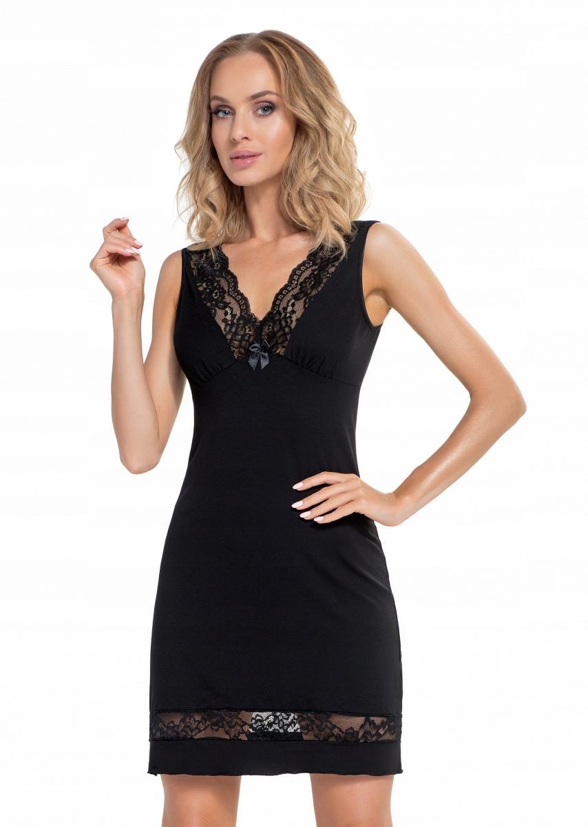 2b678e1a832cc1 Donna Stella czarna Koszula nocna 4XL WYSYŁKA 24H - 7684532321 ...