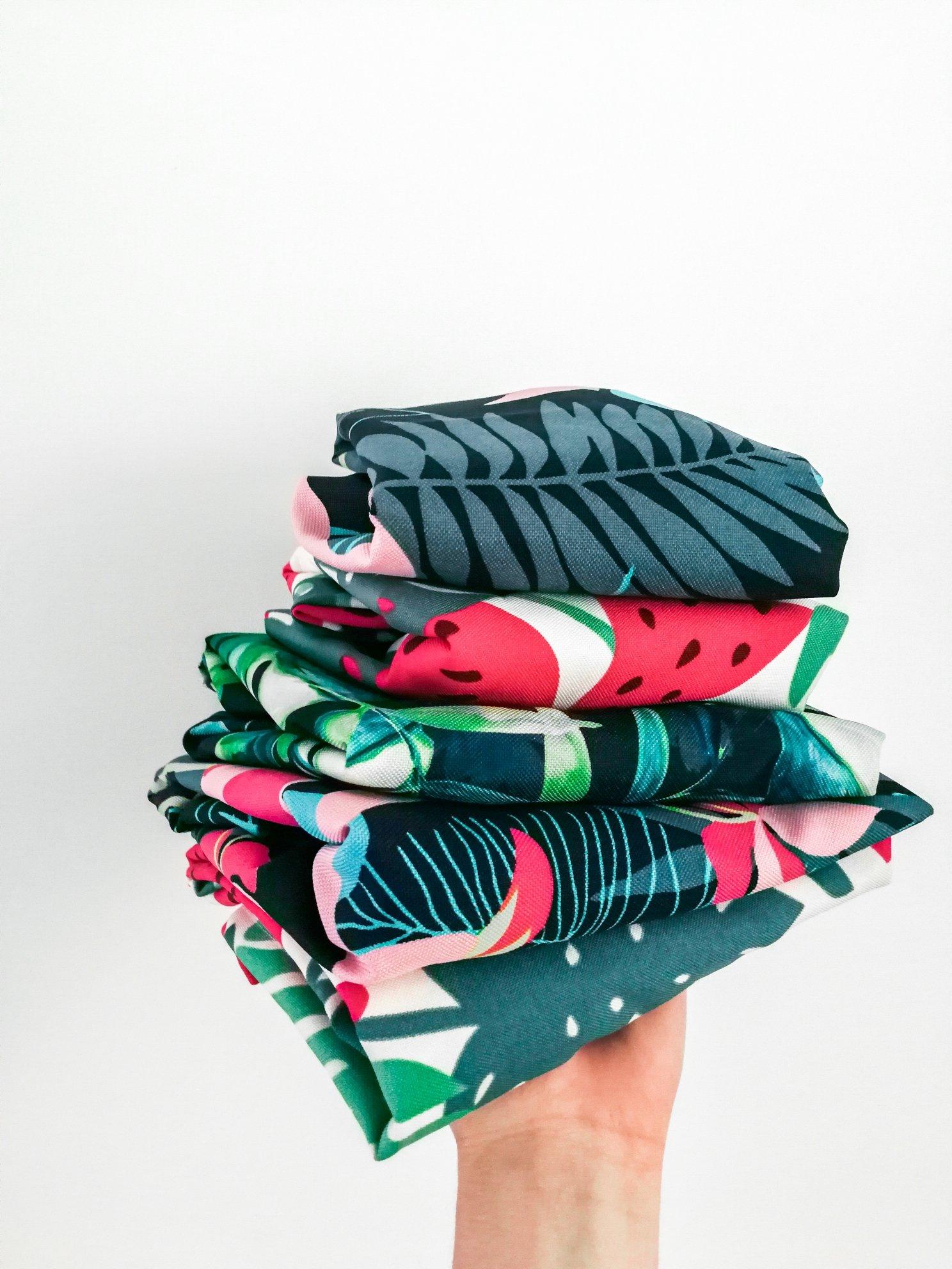 torba plażowa szmaciana arbuzy shopper bag duża
