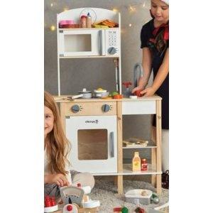 Drewniana Kuchnia Dla Dzieci Elefun Toys 7253789449 Oficjalne