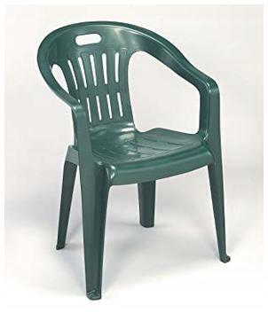 Progarden Krzesło Ogrodowe Plastikowe Zielone