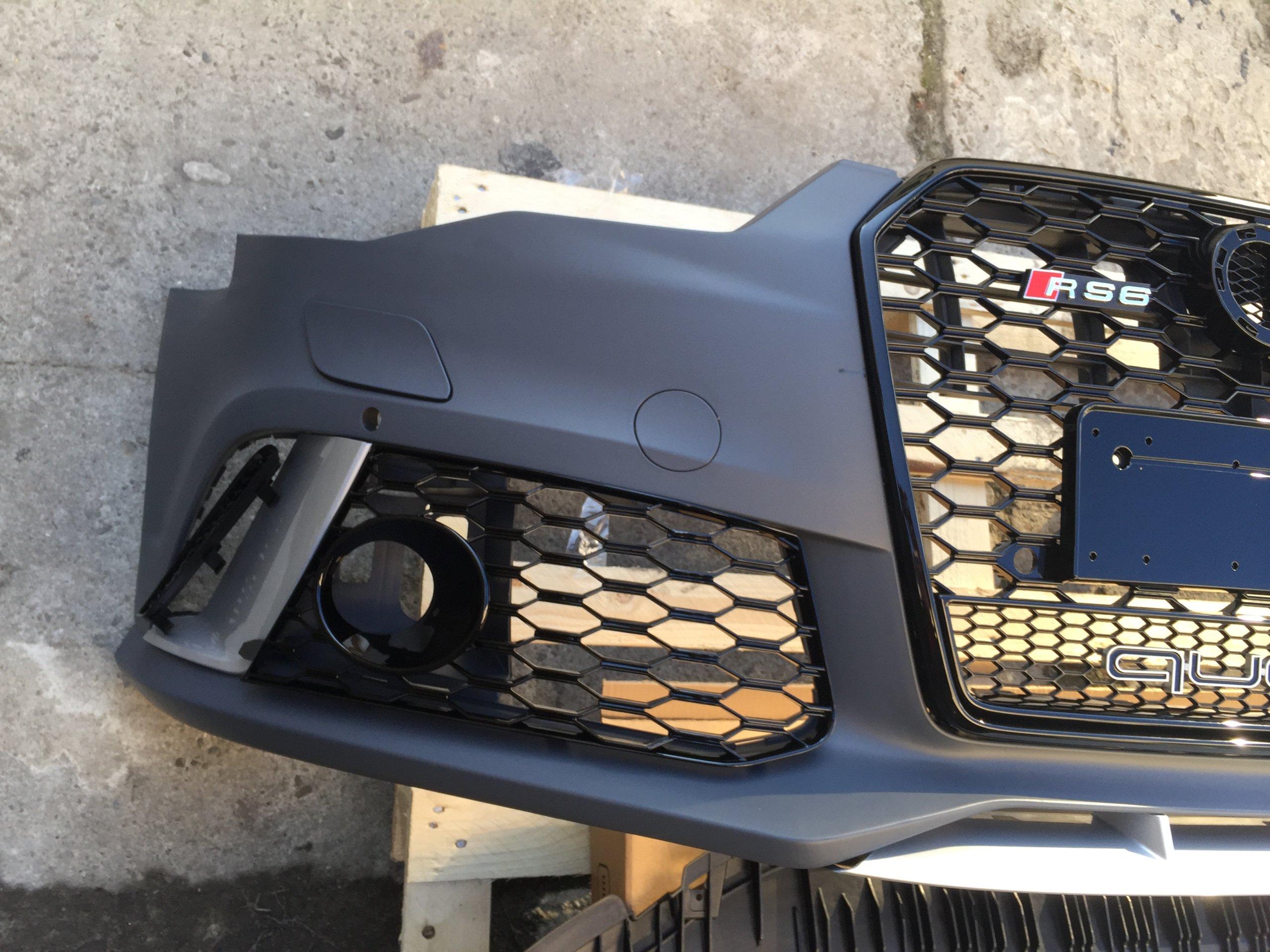 Zderzak grill Audi A6 C7 lift 2014- wzor Audi RS6