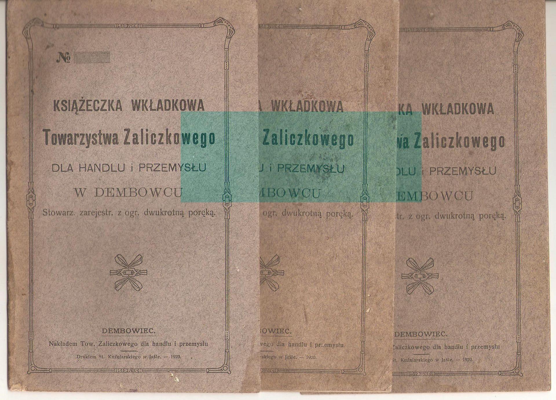 Dembowiec Towarzystwo Zaliczkowe 1920 Dębowiec