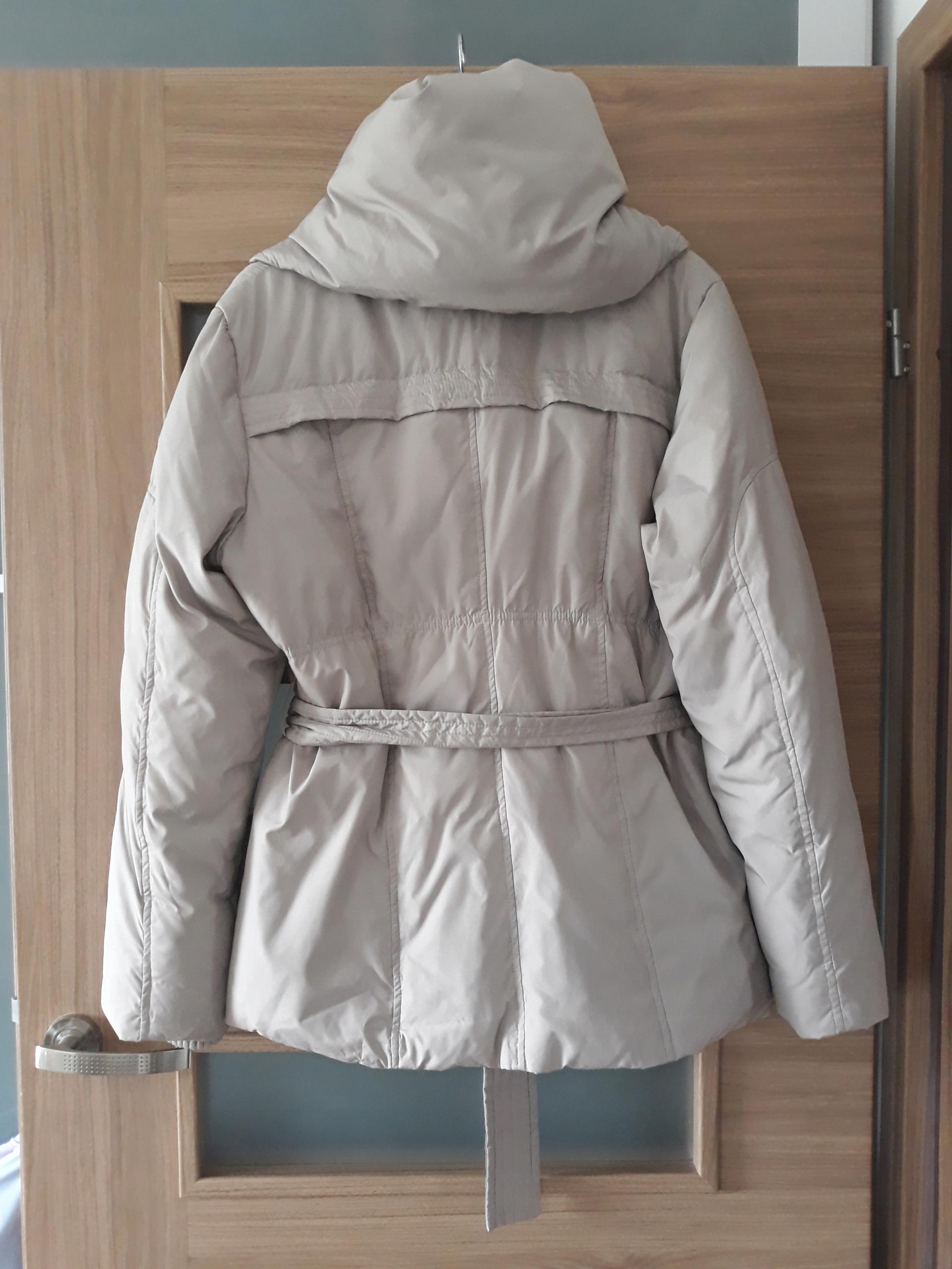 ff51c33a579cb MONNARI puchowa bezowa kurtka szalowy kołnierz 40 - 7628950554 ...