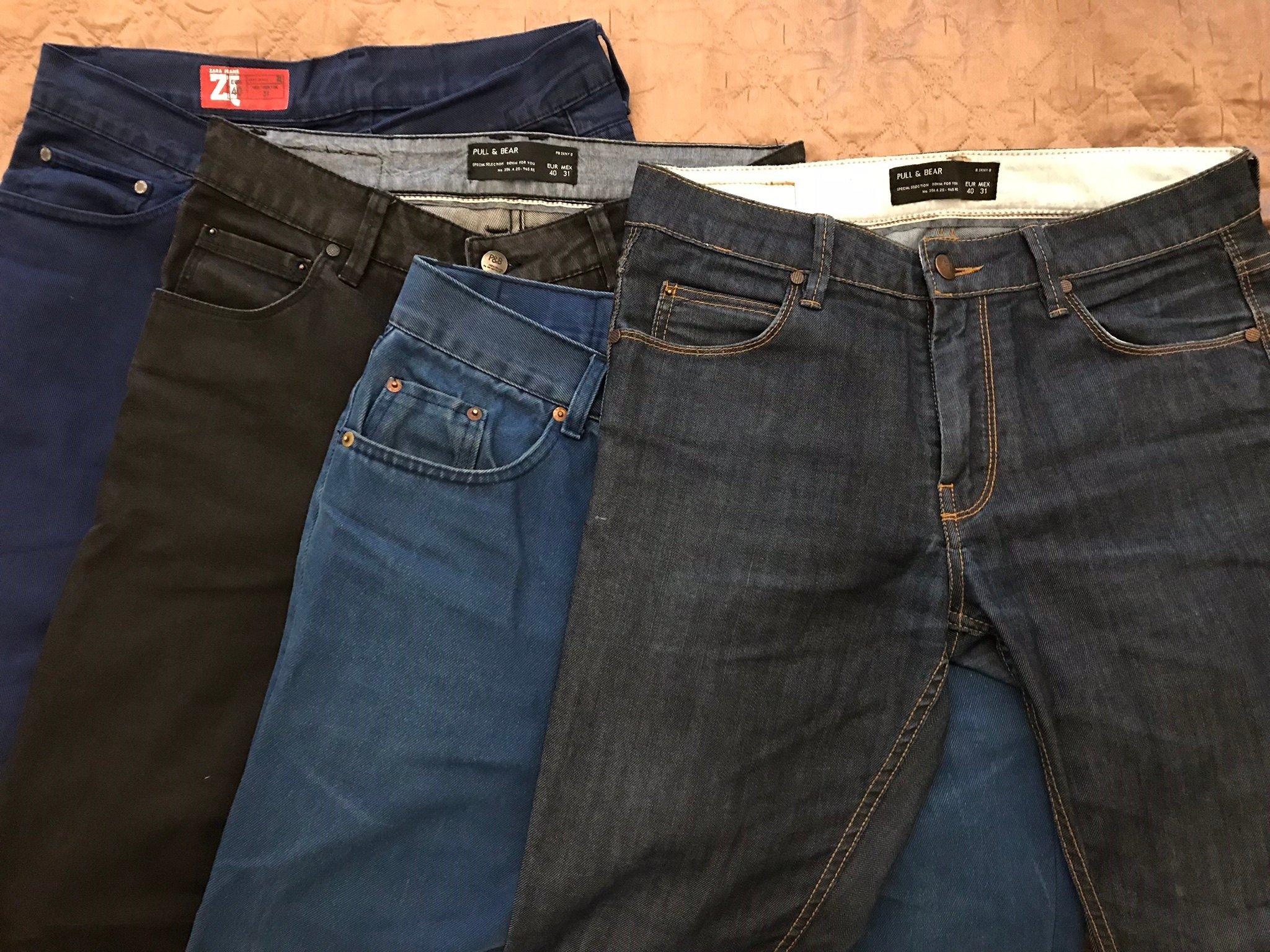 4 x jeansy + szorty + pasek Levi`s Vistula Zara