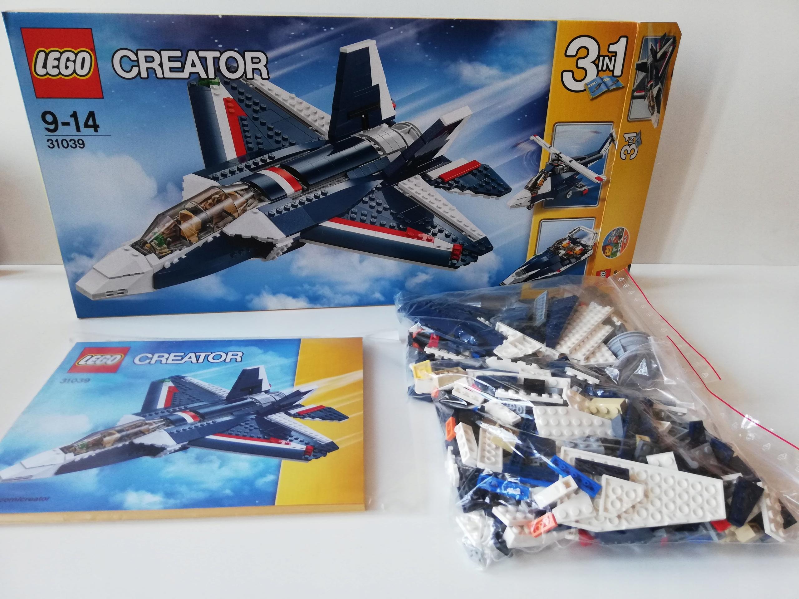 Blue Creator Power Lego Oficjalne Jet 7660068685 31039 mvwyNOn80