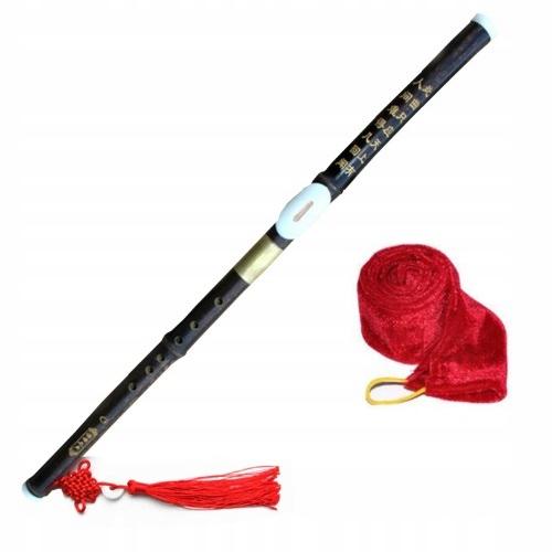 Chiński FLET Bambusowy BAWU Poziomy F + pokrowiec