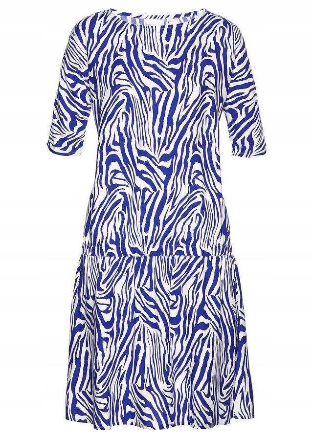 23bb17f09c Sukienka z nadrukiem niebieski 36 S 926567 bonprix - 7438123069 ...