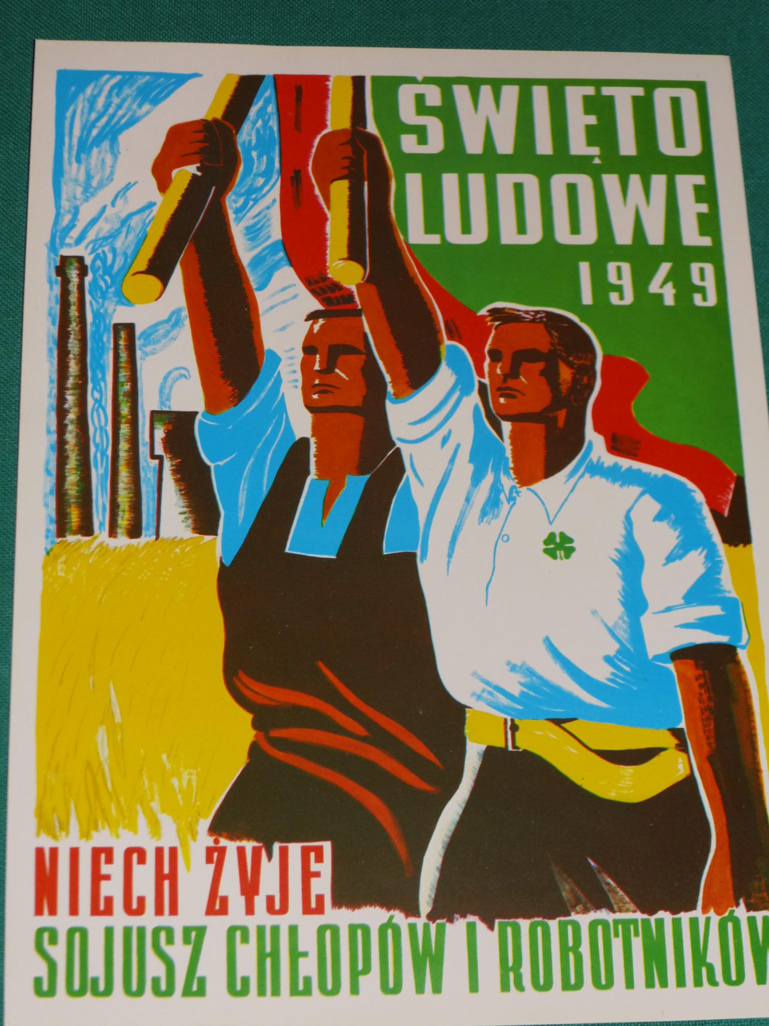 Stary Polski Plakat Swięto Ludowe 1949r