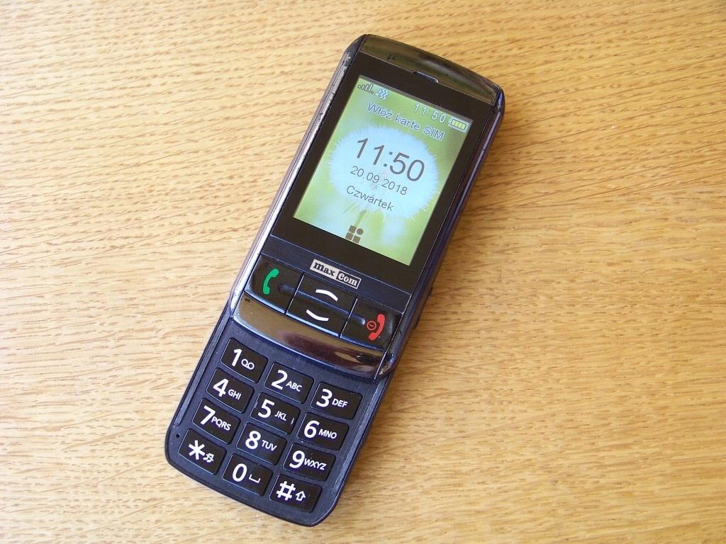 94697787ee616f Telefon MaxCom MM850BB dla seniora i nie tylko - 7573926824 ...
