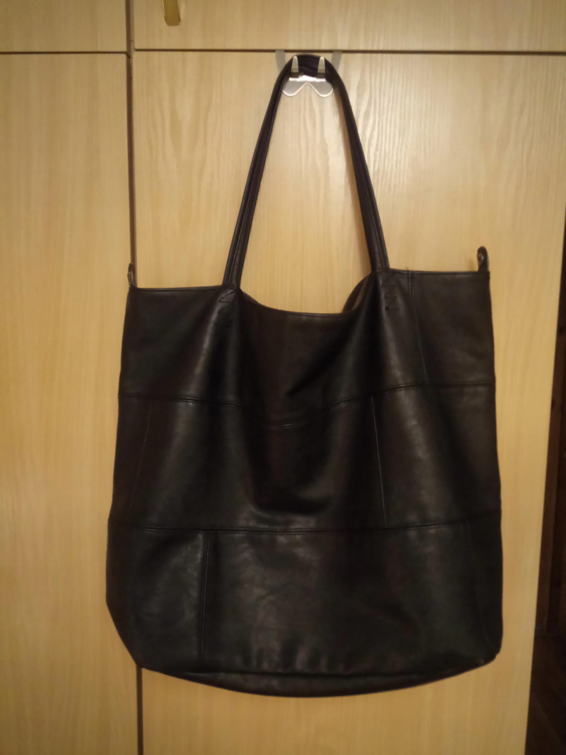 2204f931b0bce Torebka Diverse XXL Czarna Worek Shopper Bag - 7708680898 ...