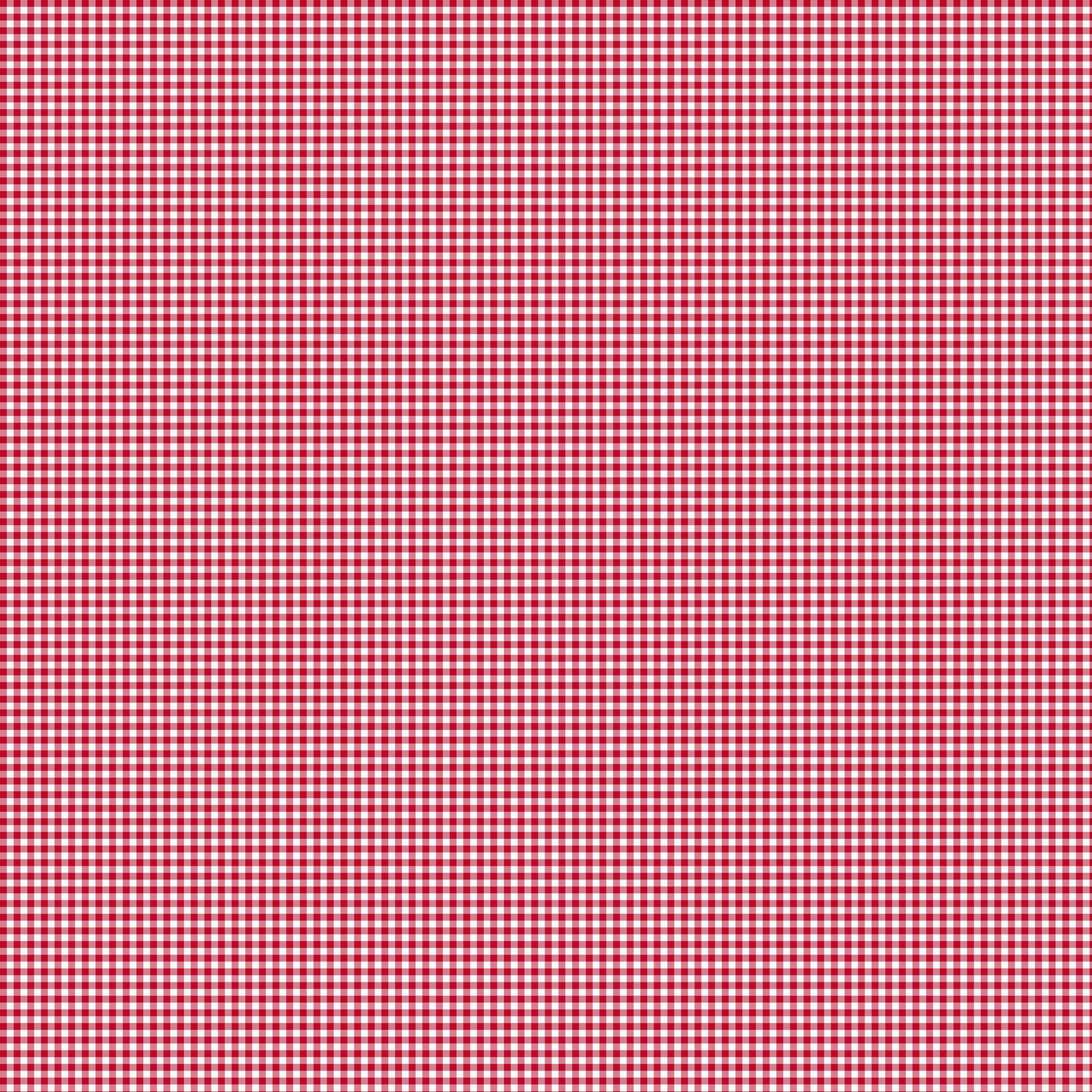 Tkanina Bawełniana 135gm2 Kratka Ikea Czerwona