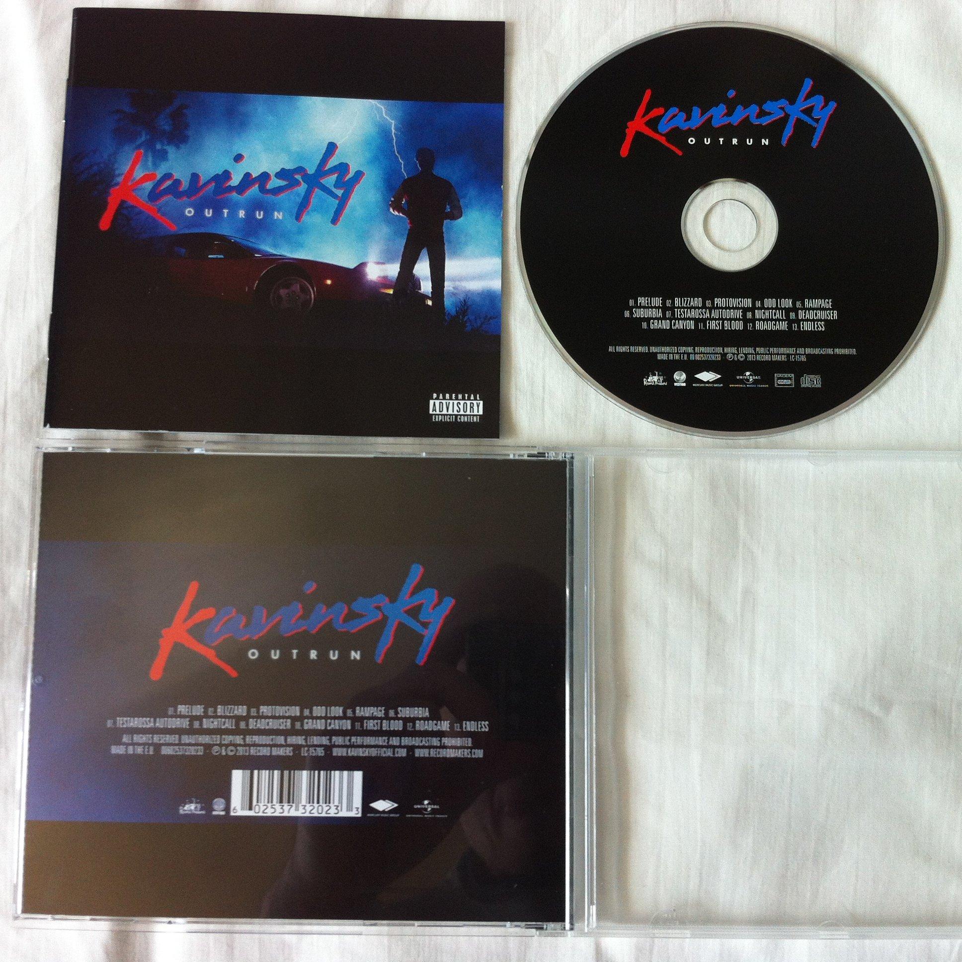 KAVINSKY Outrun CD 2013 Record Makers/Universal - 7311687806