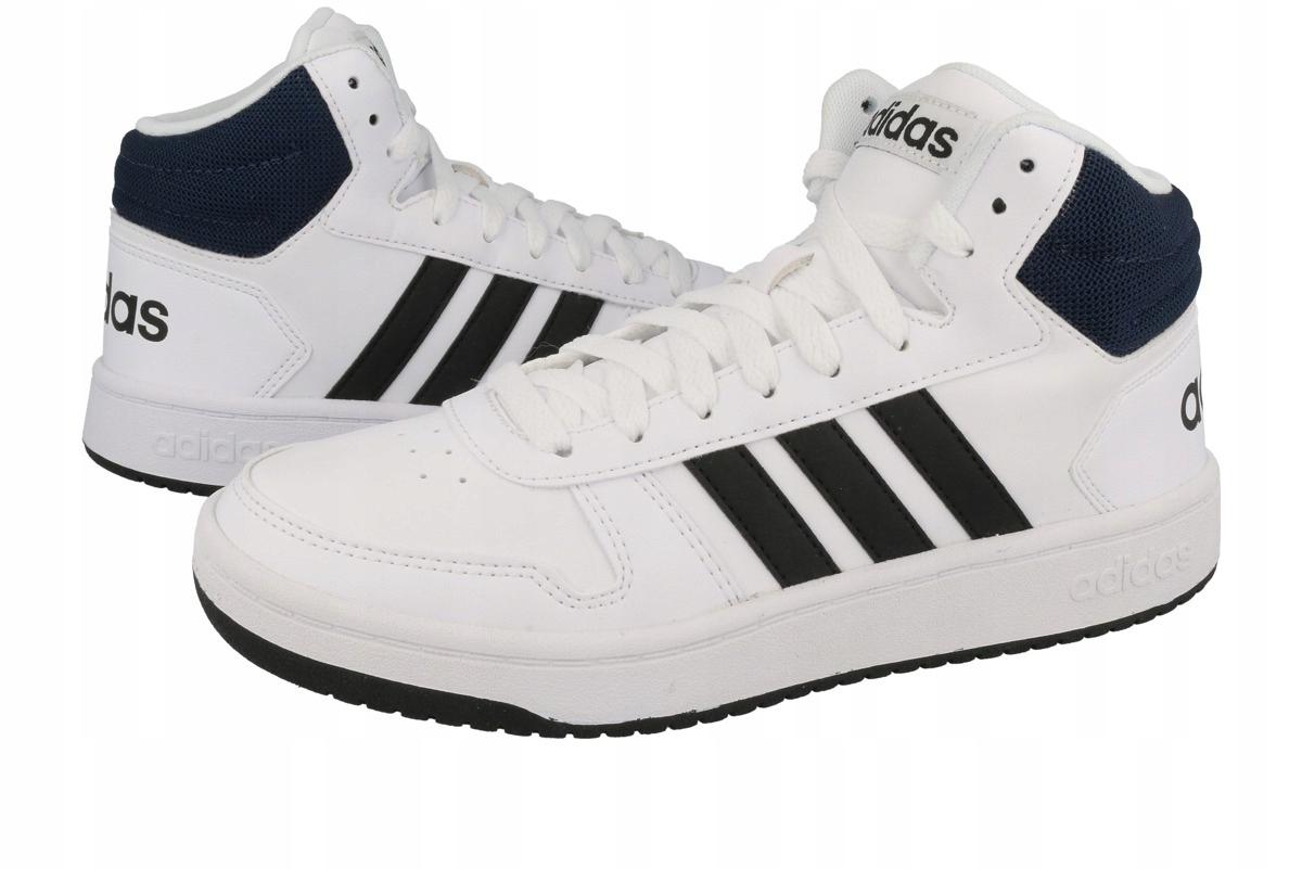 Buty Adidas Męskie Hoops 2.0 Mid Biały [Buty Lifestyle