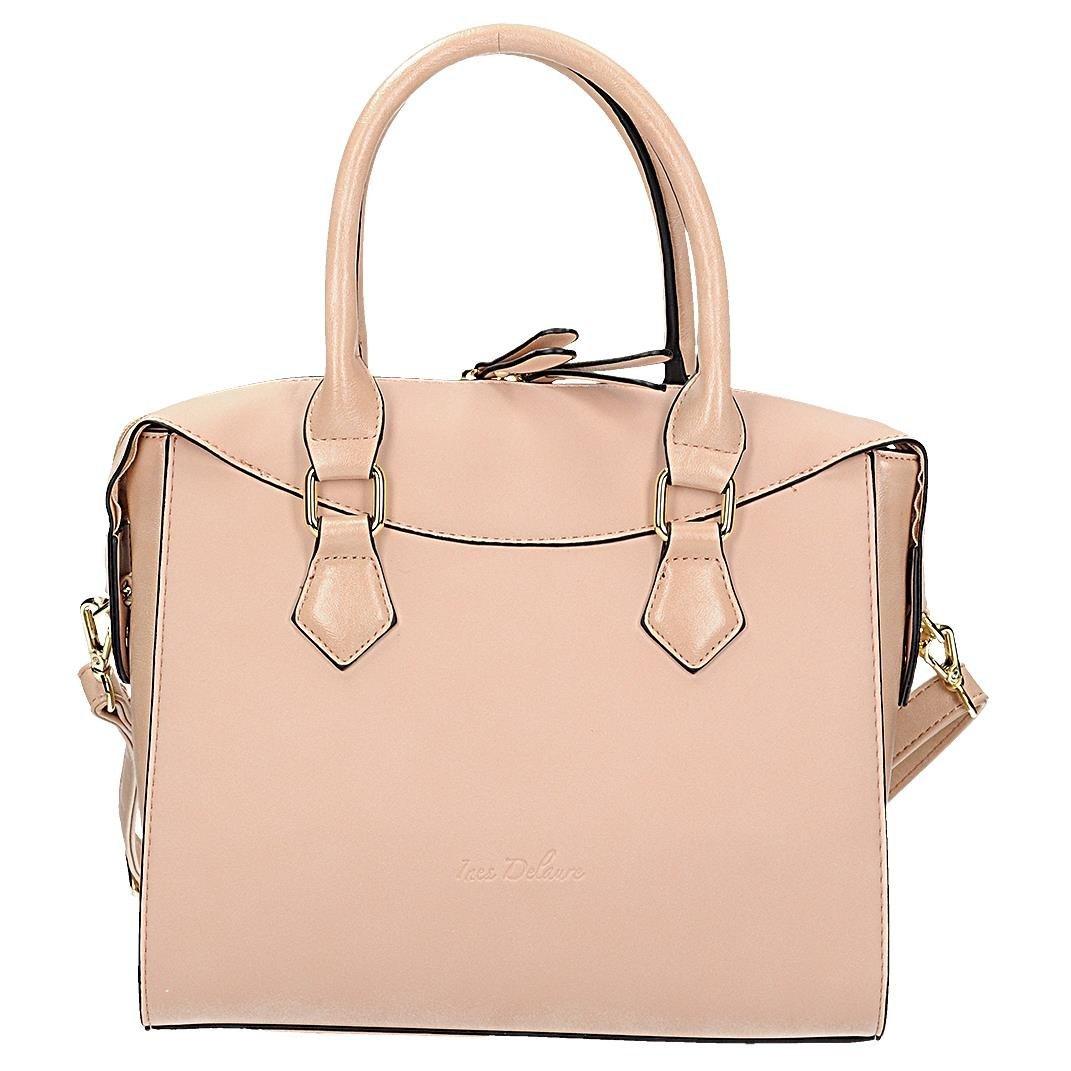 bbcc6c4417ccd Torebka damska typu kuferek w kolorze różowym Ines - 7362836071 ...