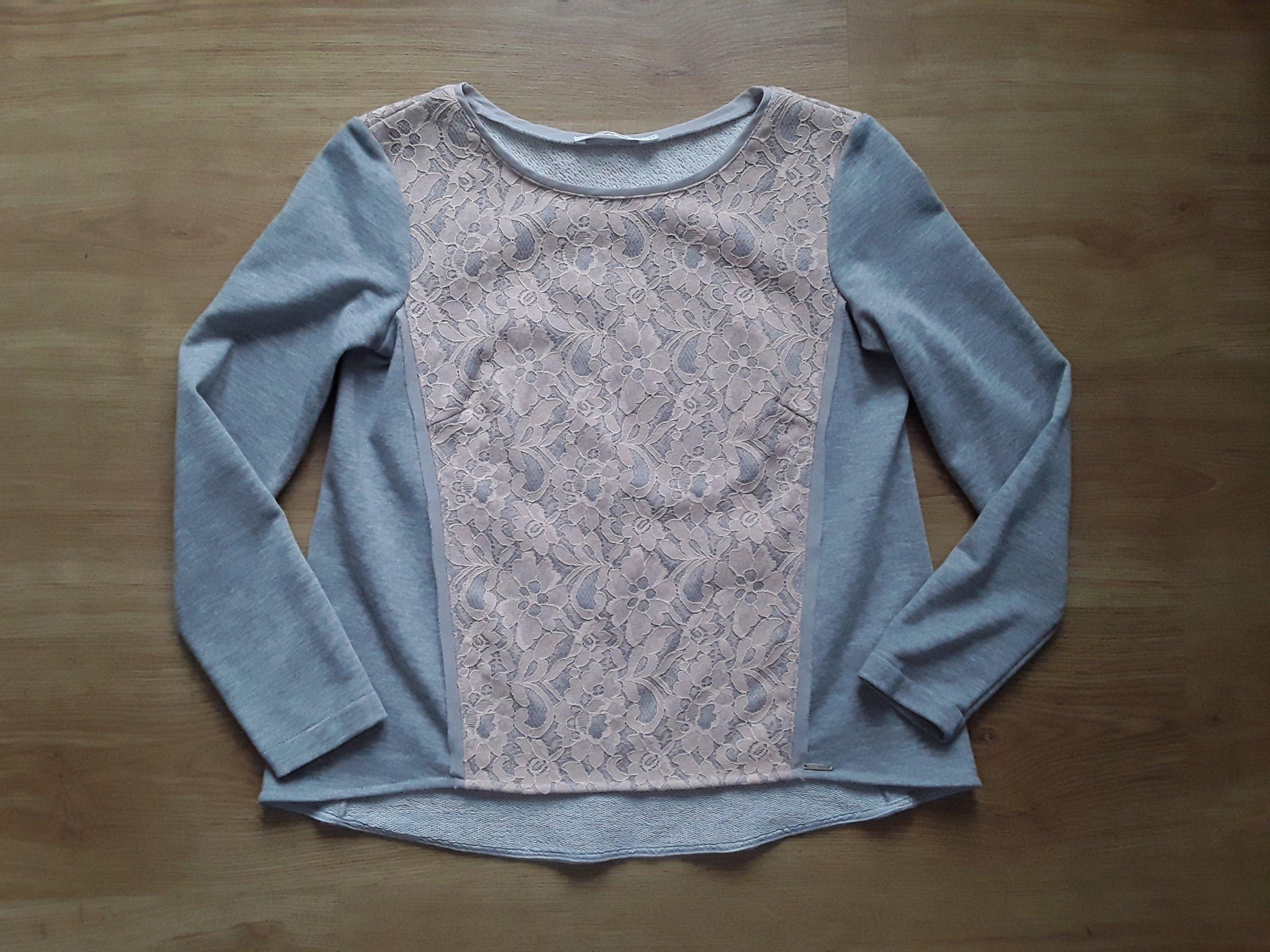 3cf1a58539 TARANKO 34 Xs bluzka koszula tunika bluza szara - 7225748234 ...