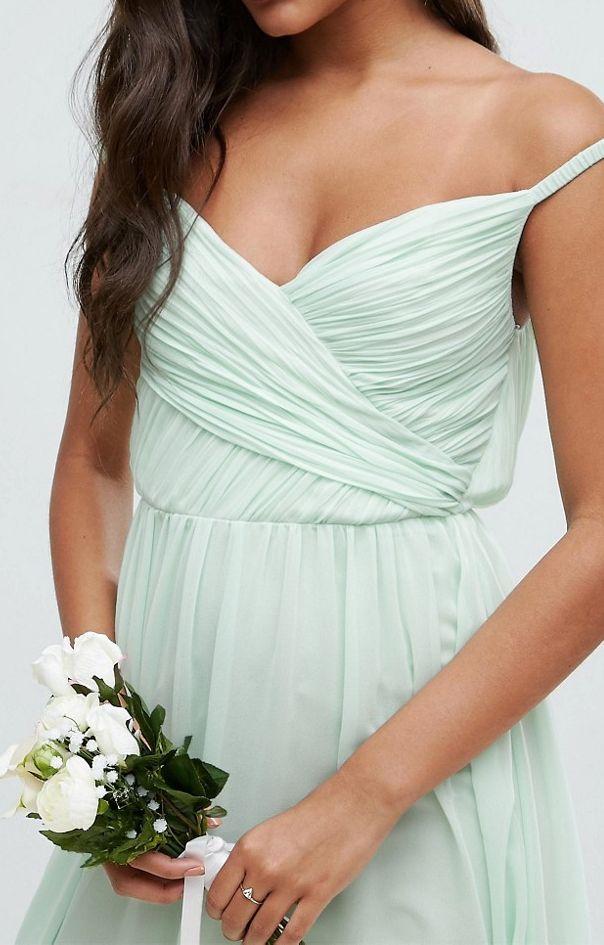 bd4e373ece5bcc Sukienka na wesele miętowa szyfon maxi 34 XS - 7314586639 ...