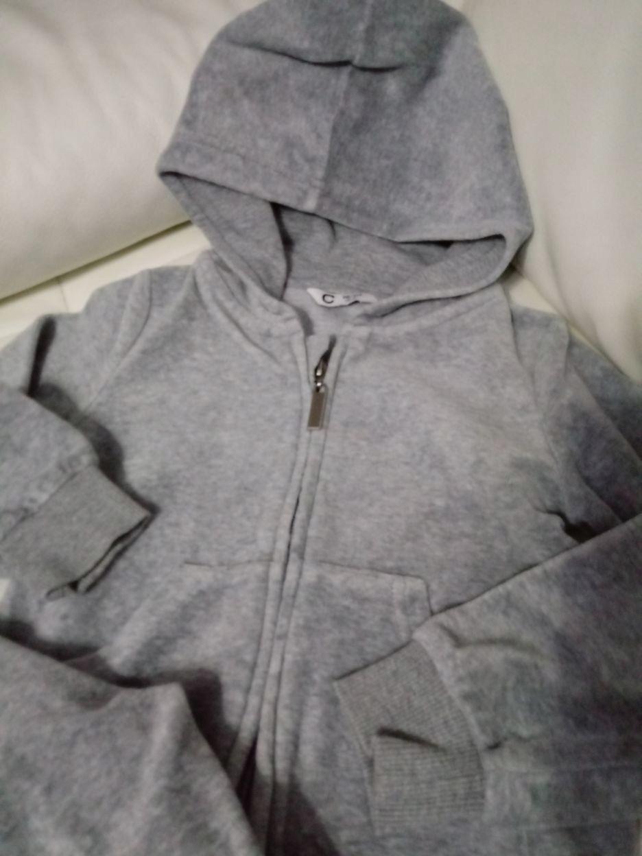 Dres welurowy CUBUS r. 98/104 ciepły bluza spodnie