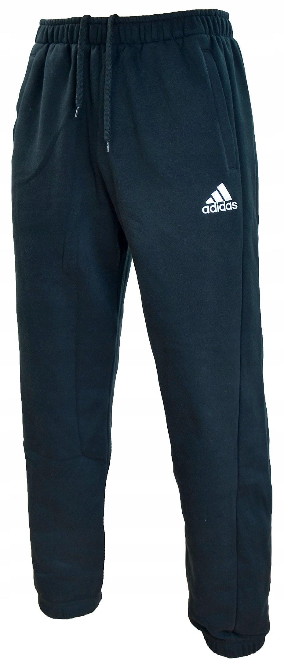 wykwintny design nowy styl brak podatku od sprzedaży Spodnie ADIDAS dresowe męskie DRESY grube CZARNE M ...