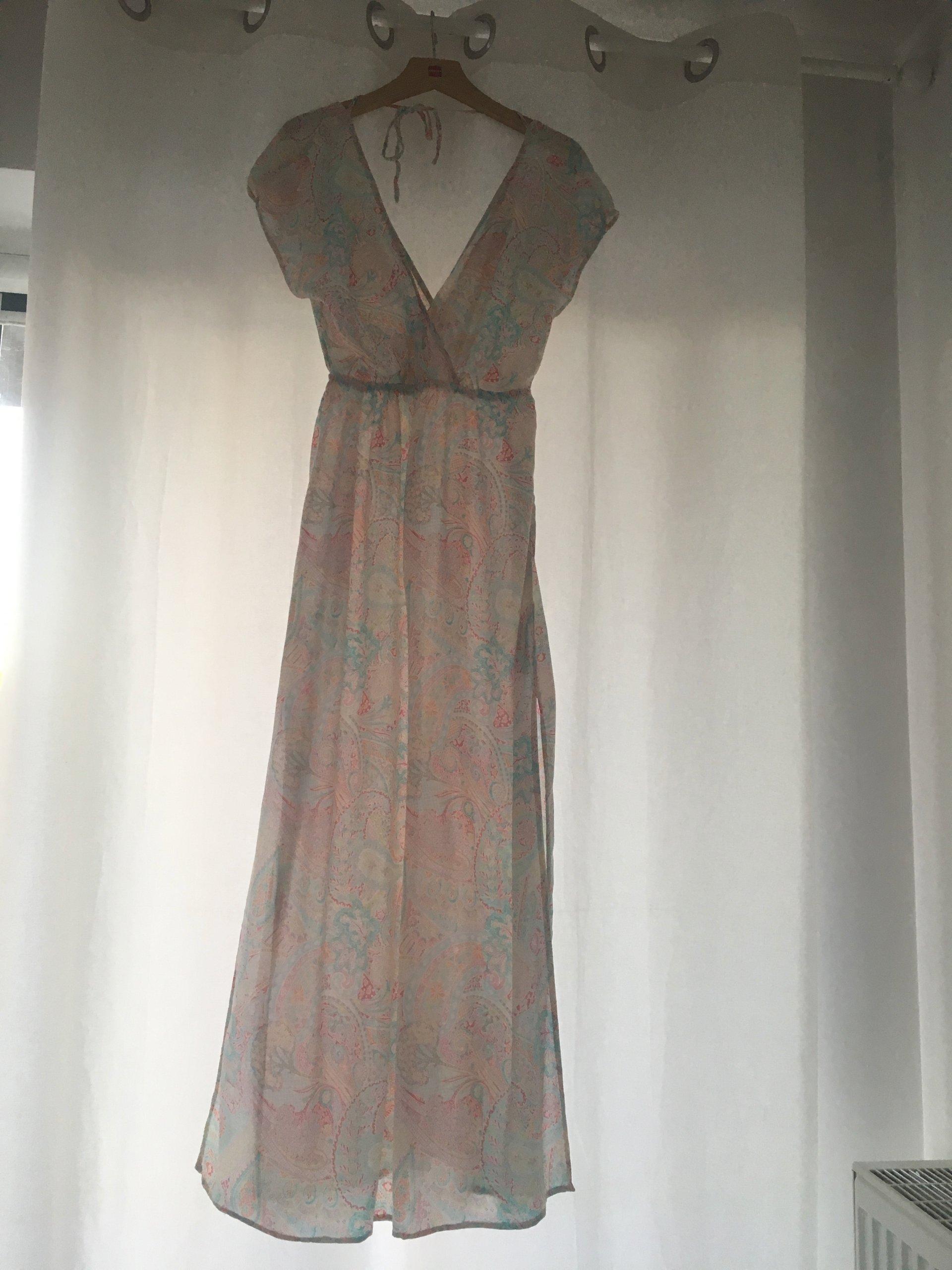 8114509f00 OYSHO długa sukienka maxi we wzór paisley roz. 36 - 7357196136 ...