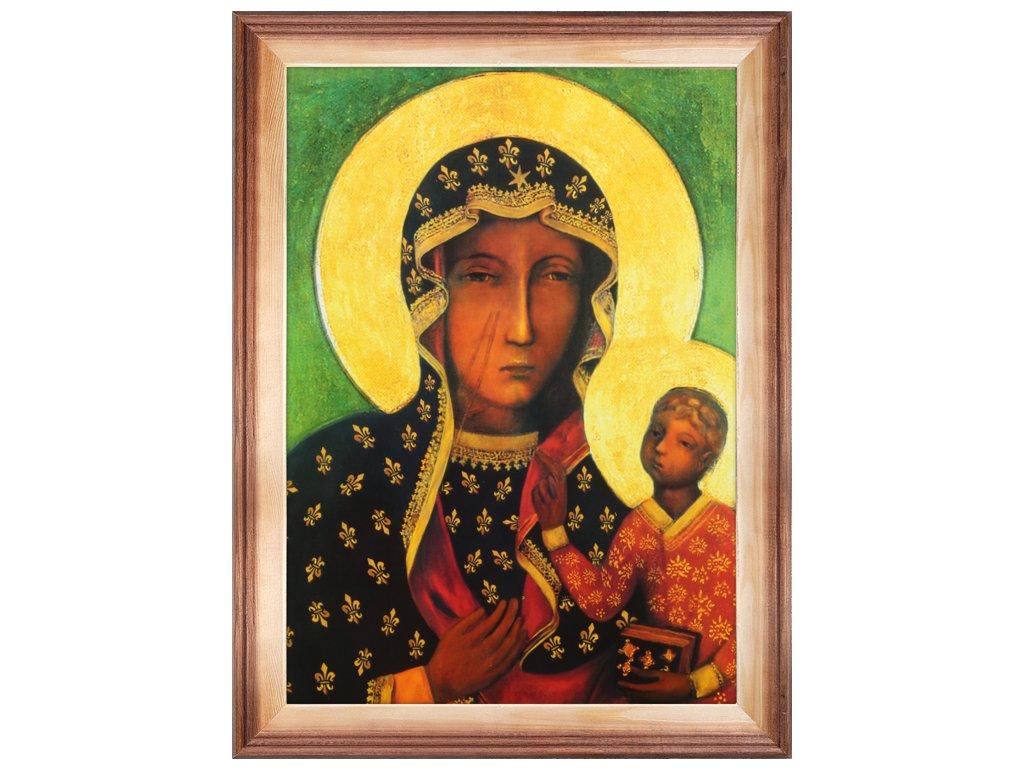święty Obrazy 30x40cm Plakat Matka Boska Ramka Hit