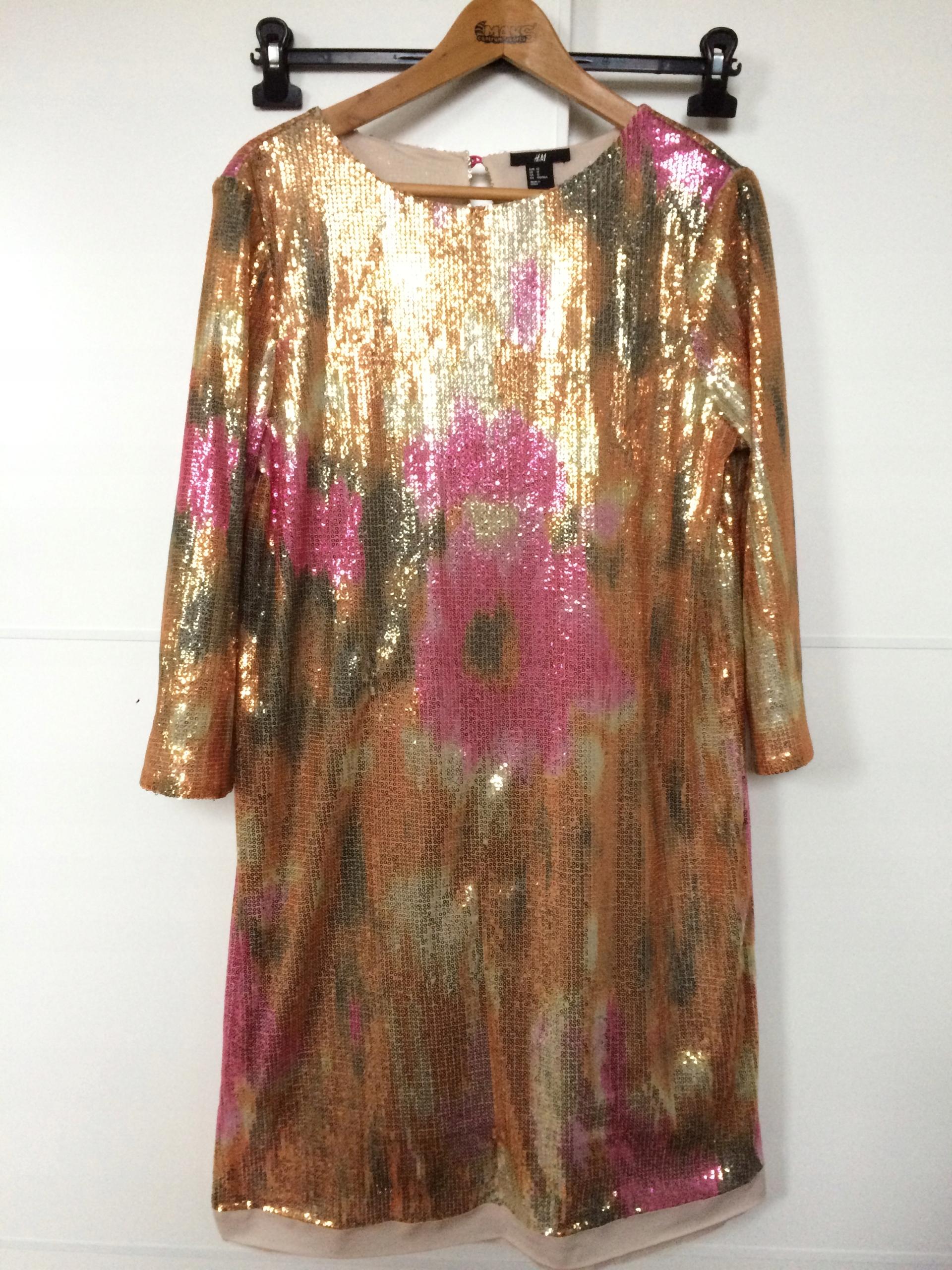 d75bd4ffd2 Sukienka cekinowa H M rozmiar 42 XL - 7696359198 - oficjalne ...