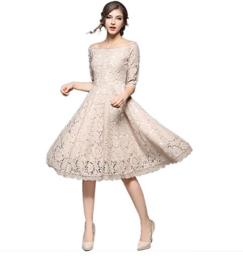 ae910780 Rozkloszowana sukienka koronka wizytowa XXL - 6827603675 - oficjalne ...
