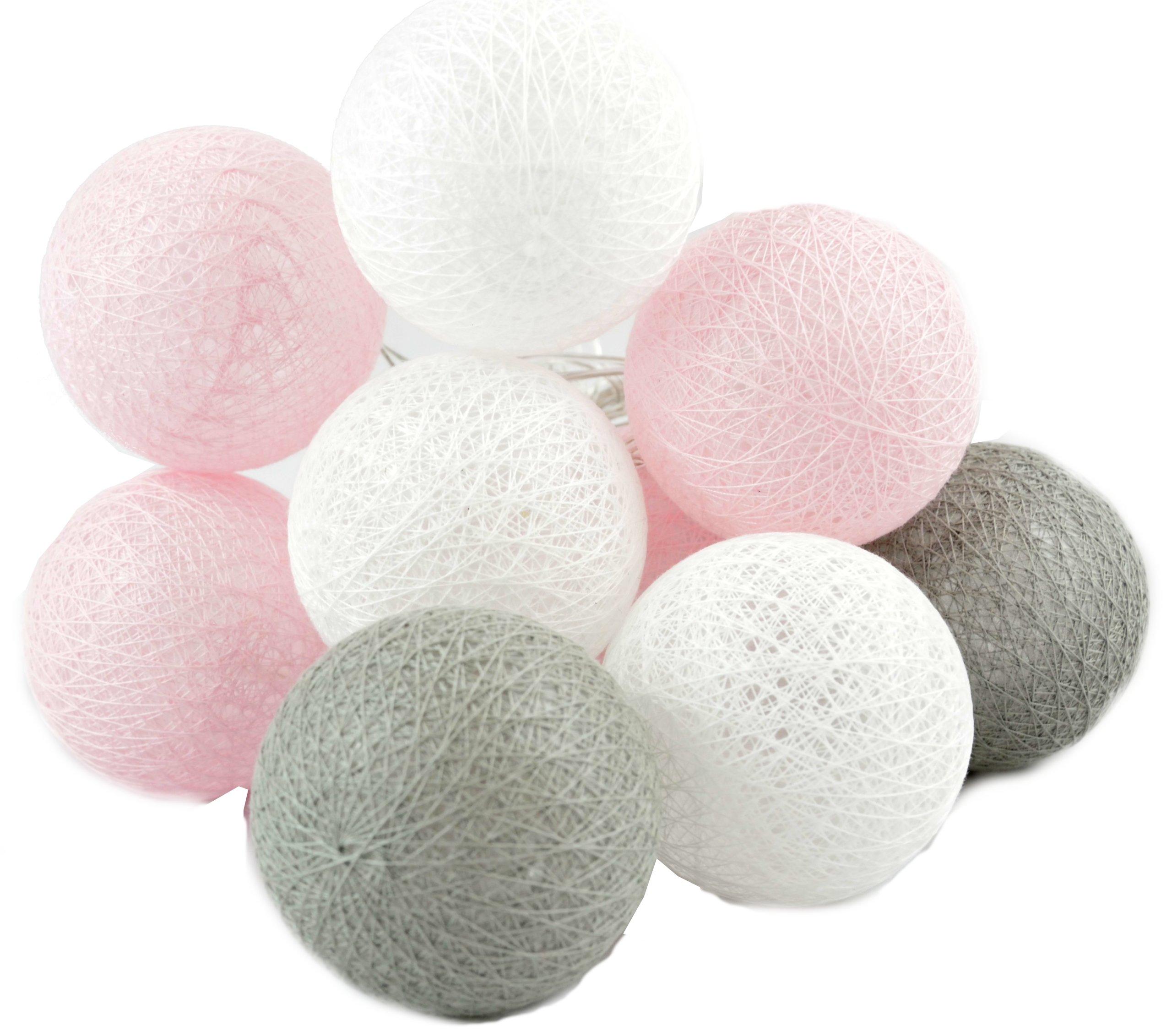 Cotton Ball świecące Kule Girlanda 10 Led Lampki