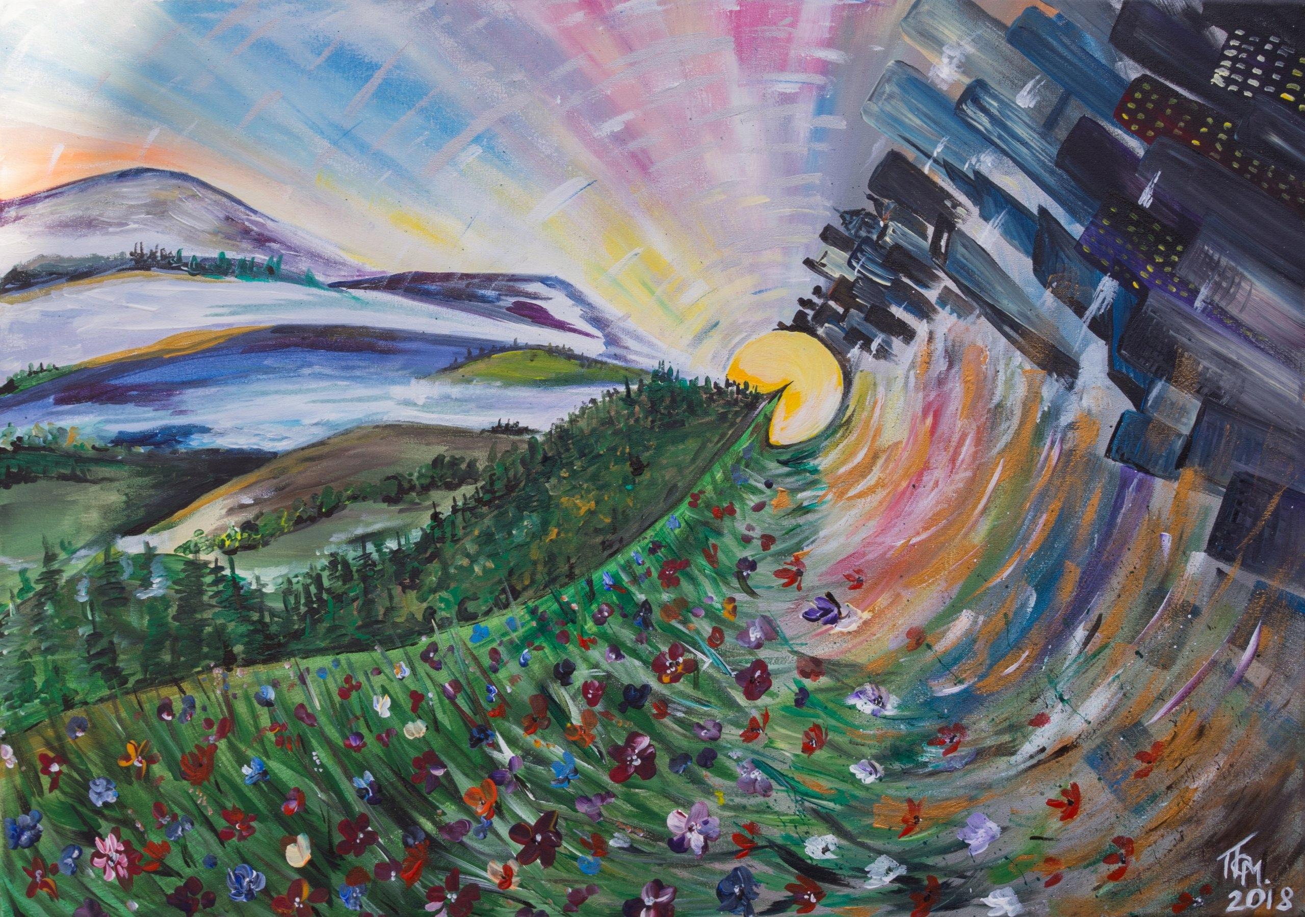 Obraz Malowany Ręcznie Farby Akrylowe 7303683181 Oficjalne