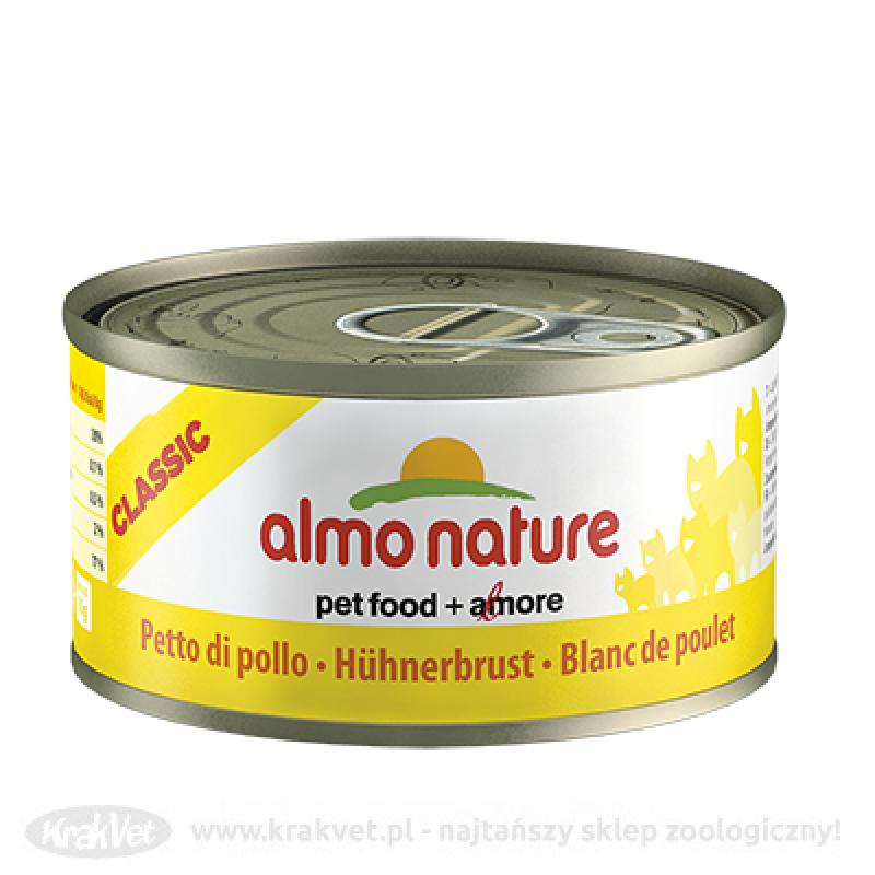 ALMO NATURE Filet z kurczaka - puszka 12x140g