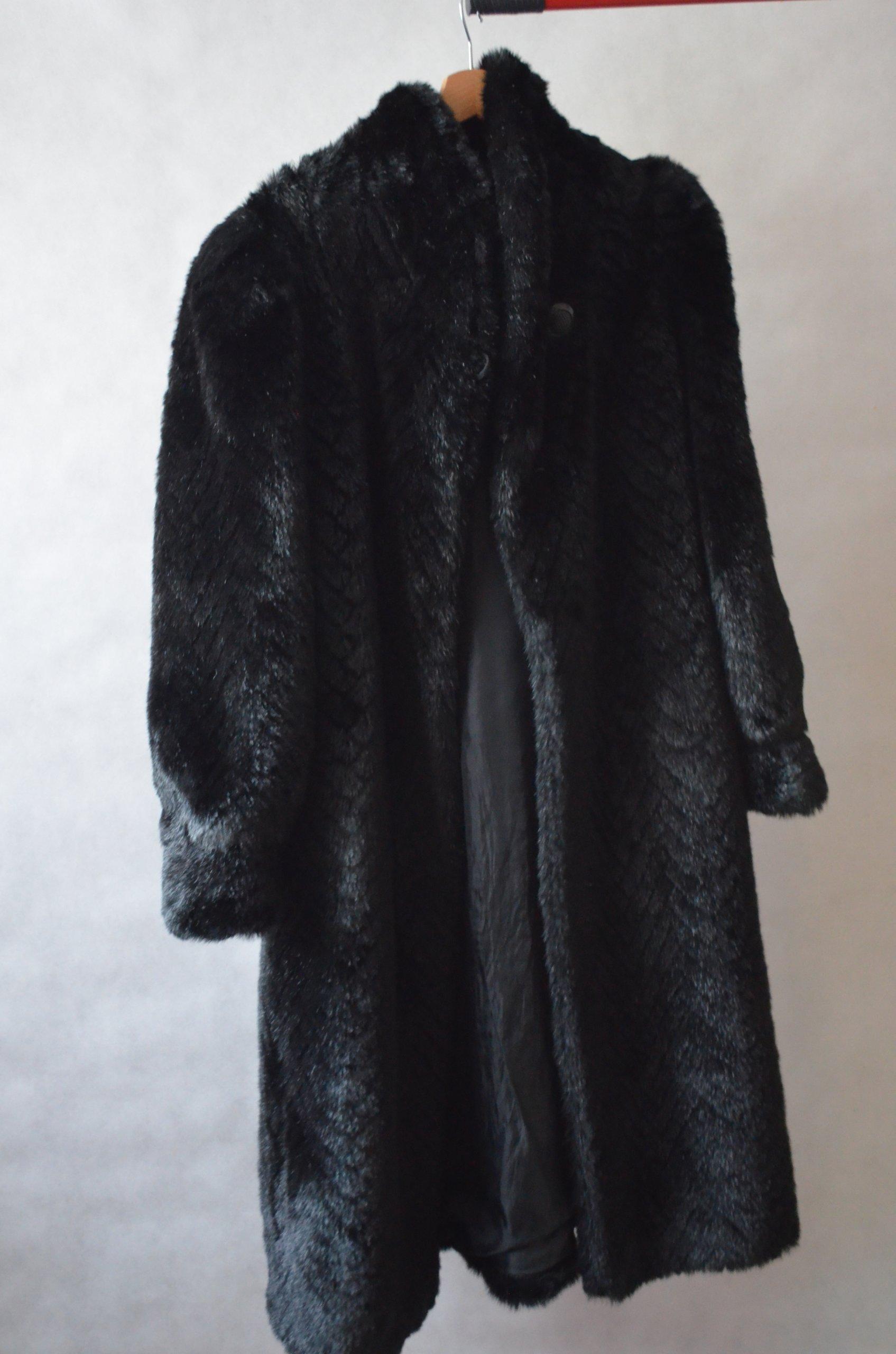futro sztuczne damskie płaszcz C&A 42 XL/L