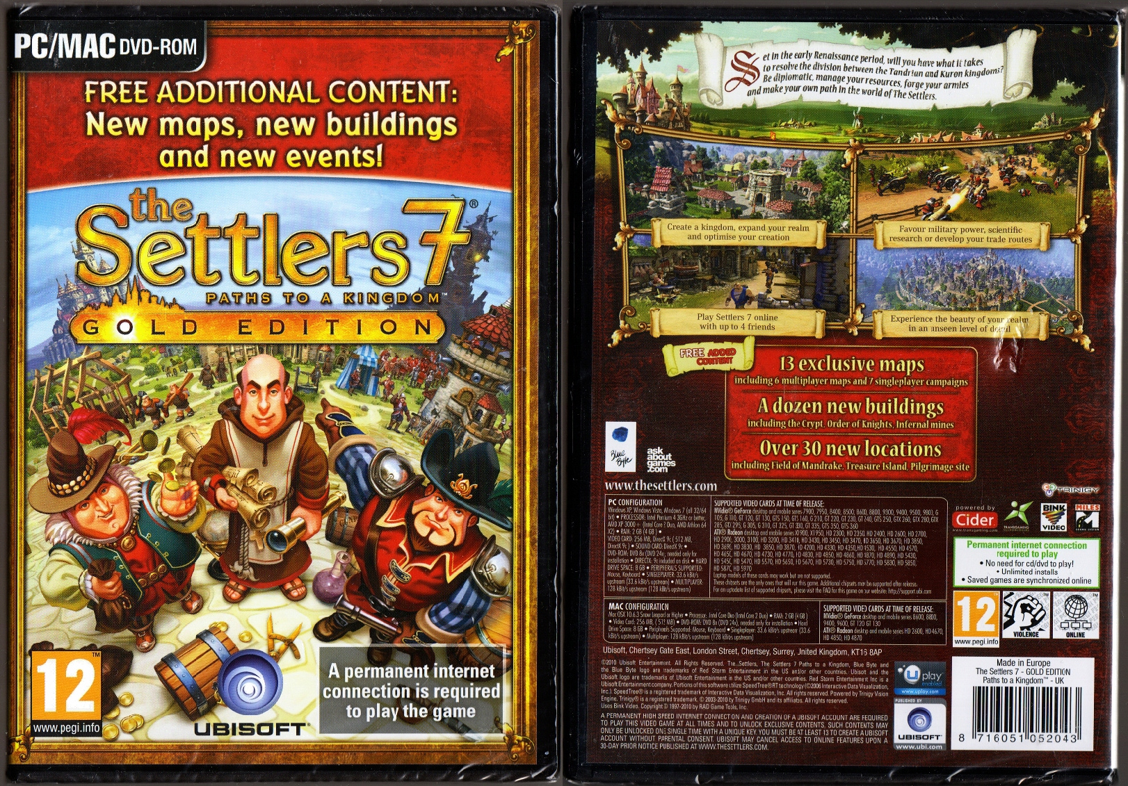 THE SETTLERS 7 PATHS TO A KINGDOM PC BOX ENG on