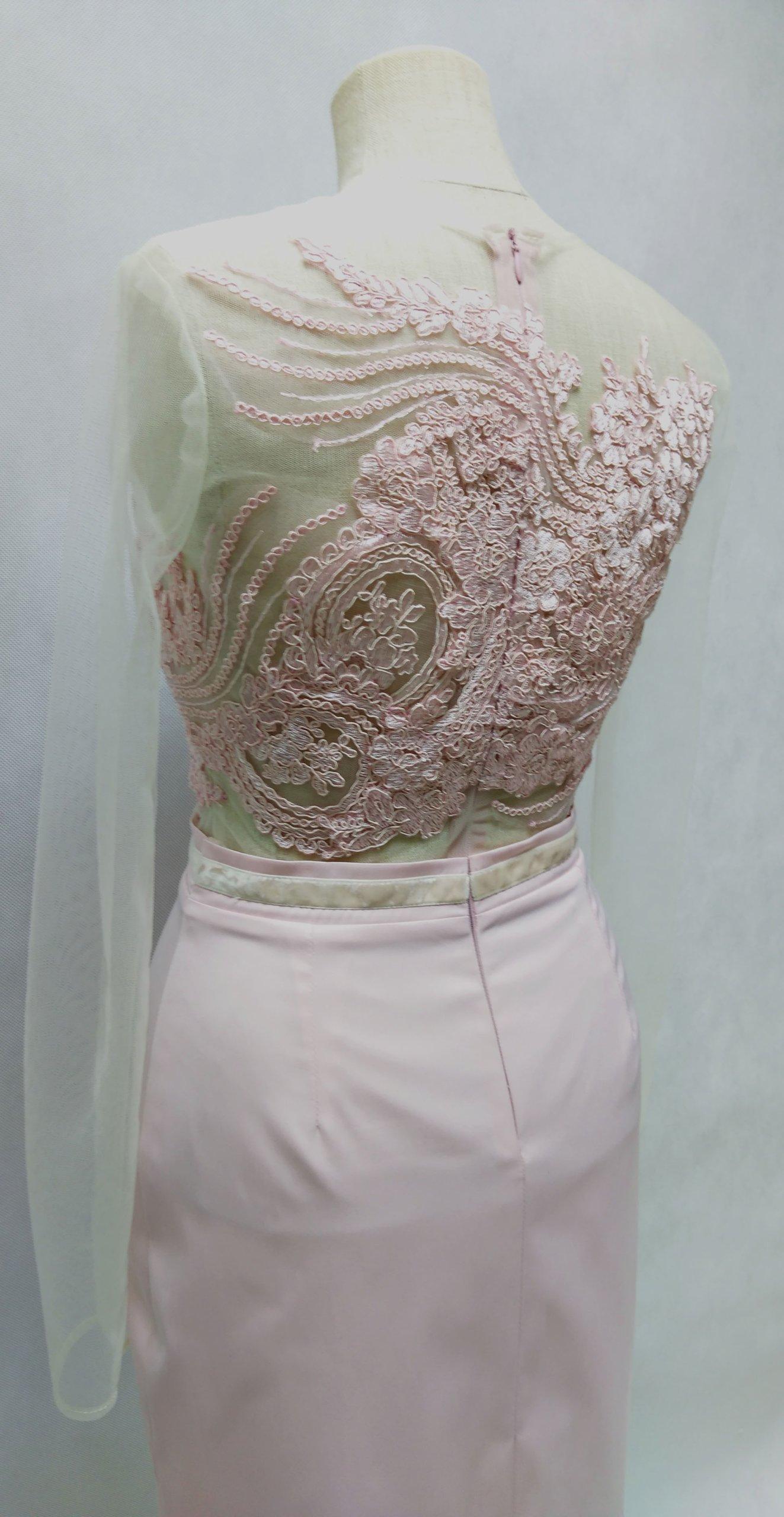 d2b375f60a Sukienka wieczorowa - różowa koronka rozm. 36 - 7126688614 ...