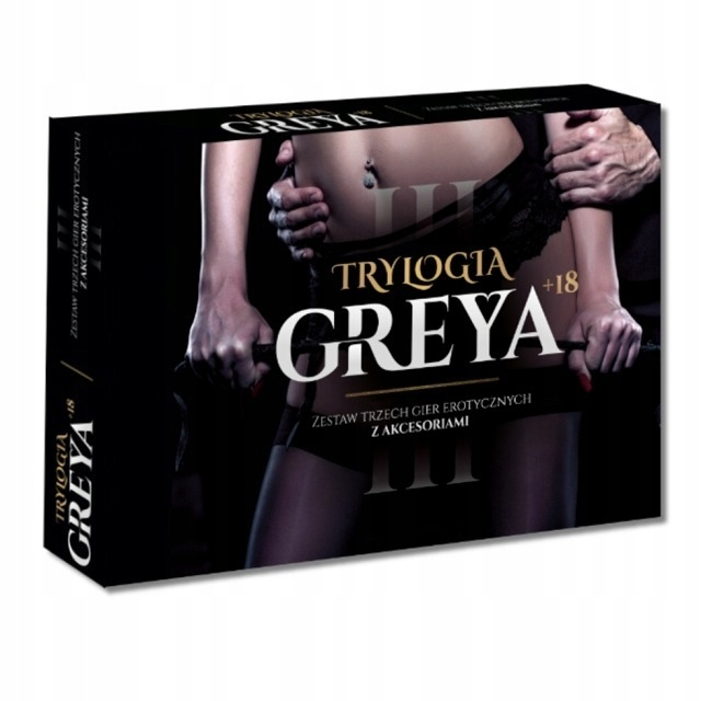 Item SET OF 3 EROTIC GAMES TRILOGY GREY + ACCESSORIES