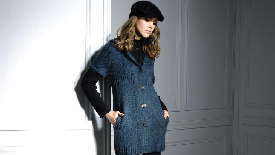 Stylizacje z kardiganem navy blue