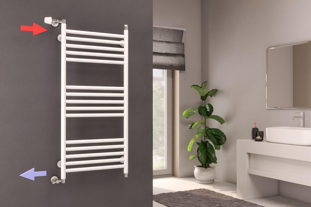 ako nainštalovať kúpeľňový radiátor