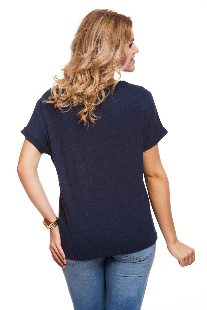 T-shirt VERO MODA VMDIDIE COFFEE S/S T-SHIRT PRE 10175162 granatowy M