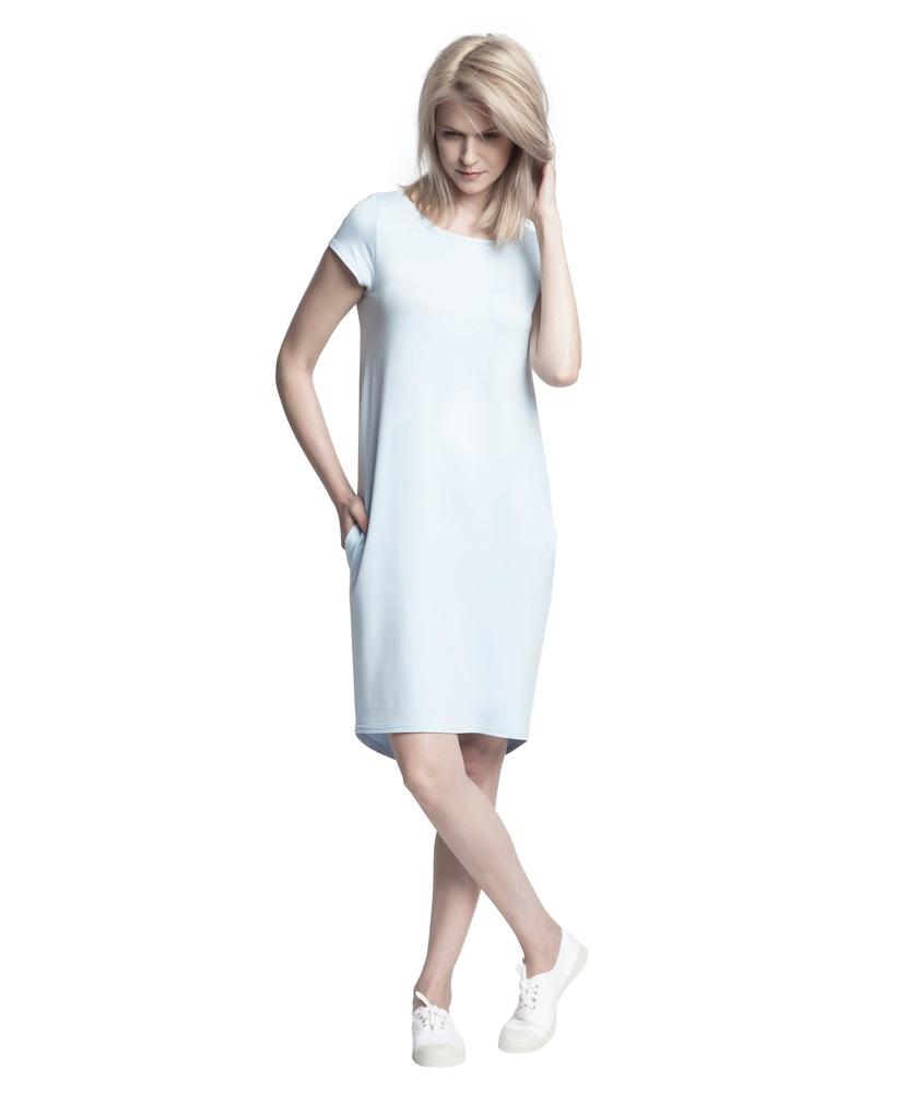 Sukienka ECHO KIMI 2-15817-116065-170120 niebieski S