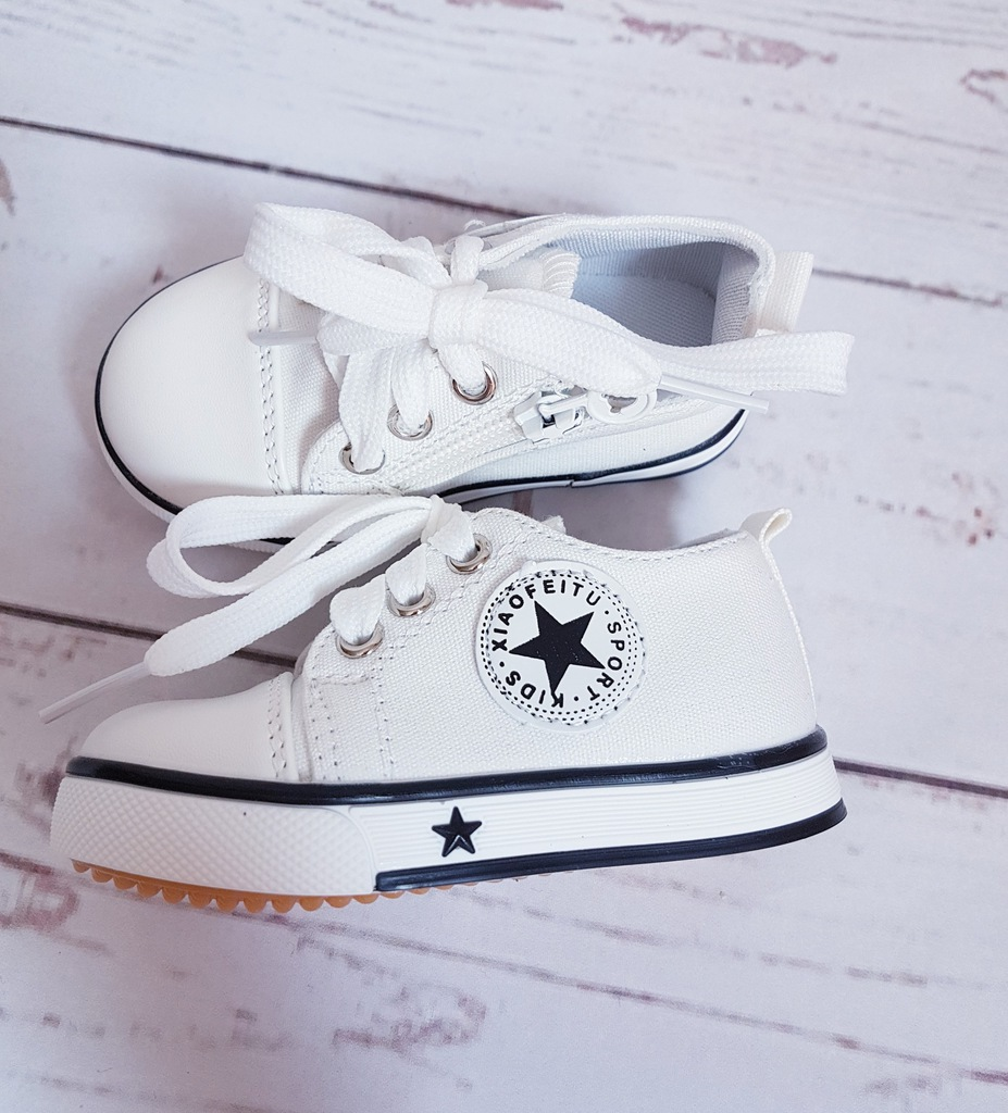 Białe trampki buty lato 24 j. converse h&m