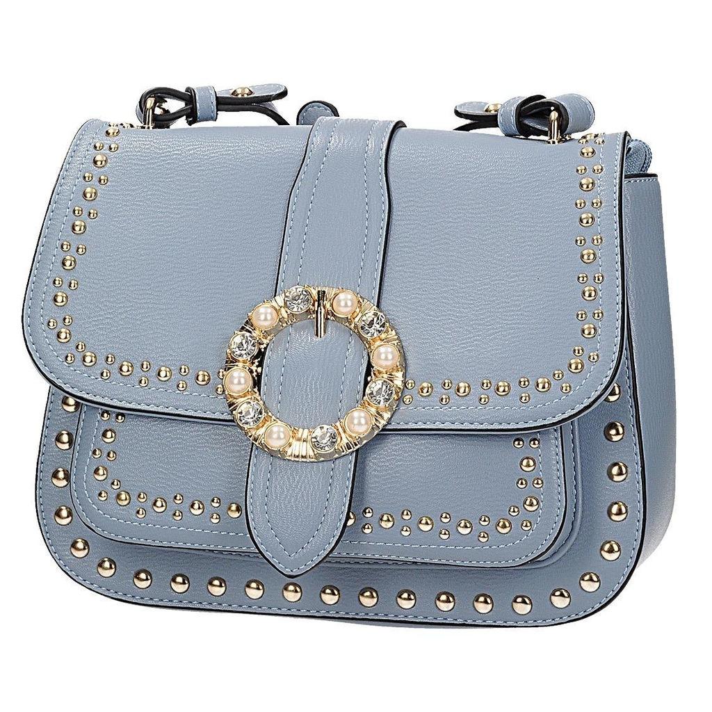 Niebieska torebka z ozdobną klamrą SCHILO JOLIE D