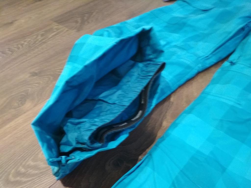 Nowe spodnie snowboard narty FOB XL turkus kratka