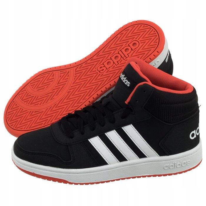 Buty Sportowe adidas Hoops Mid 2.0 K B75743 Czarne