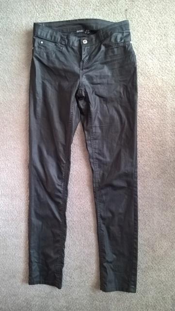 Esmara spodnie damskie czarne rurki 38M woskowane