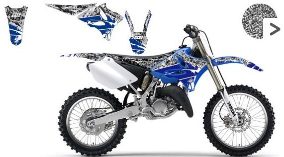 Komplet Naklejek Okleina Yamaha Yz 125 250 02 14 6657632947 Oficjalne Archiwum Allegro