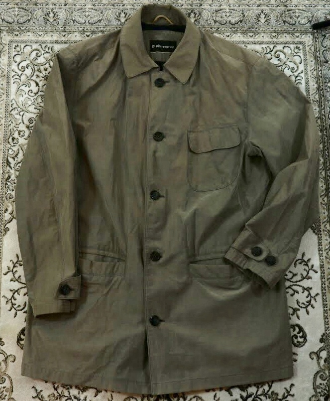Płaszcz trencz na wiosnę Pierre Cardin szary