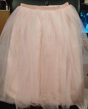 Spódnica tiulowa, 4 warstwy tiulu, kolor peach
