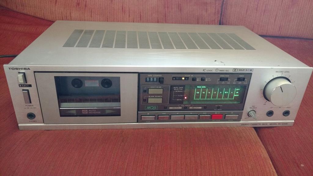 Toshiba PC-G55R magnetofon kasetowy deck autorew.