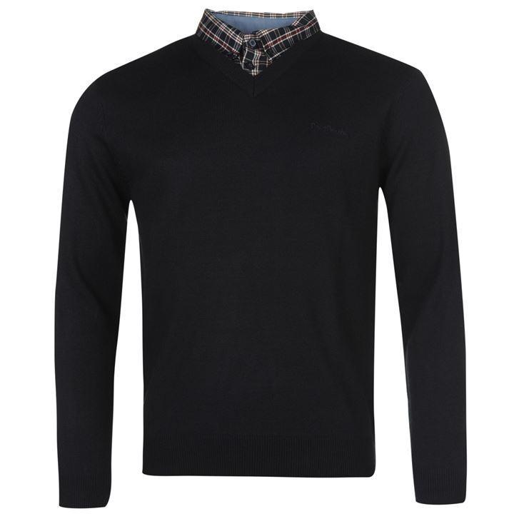 Sweter z kołnierzem Męski Pierre Cardin M