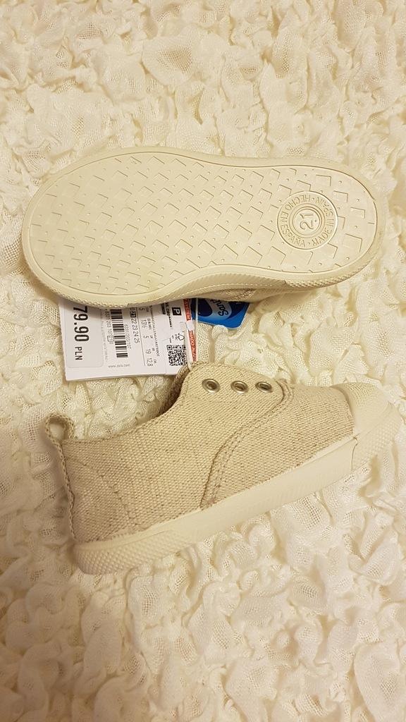 Zara buty trampki r 21 skórzana wkładka