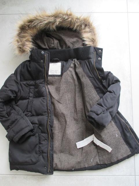 ZARA kurtka puchowa na zimę zimowa futerko 5 6 116